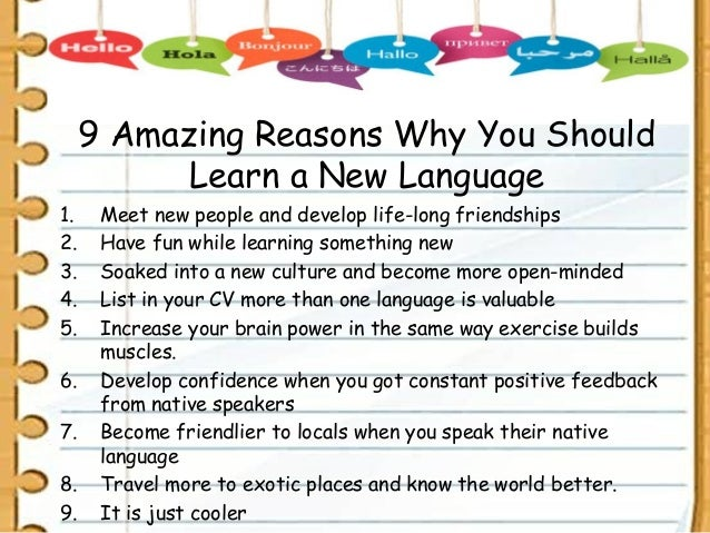 How to learn different language