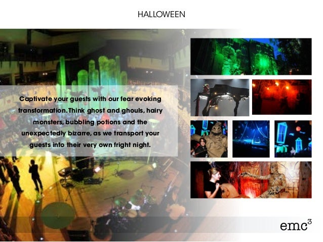 HALLOWEEN Captivate your guests with our fear evoking transformation.Think ghost and ghouls, hairy monsters, bubbling poti...