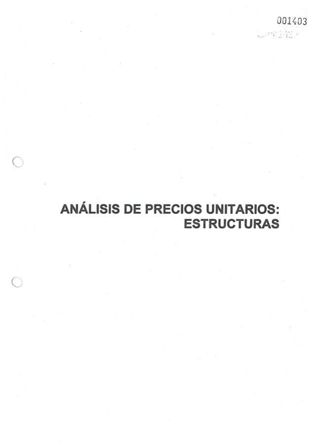 9 analisis de costos unitarios