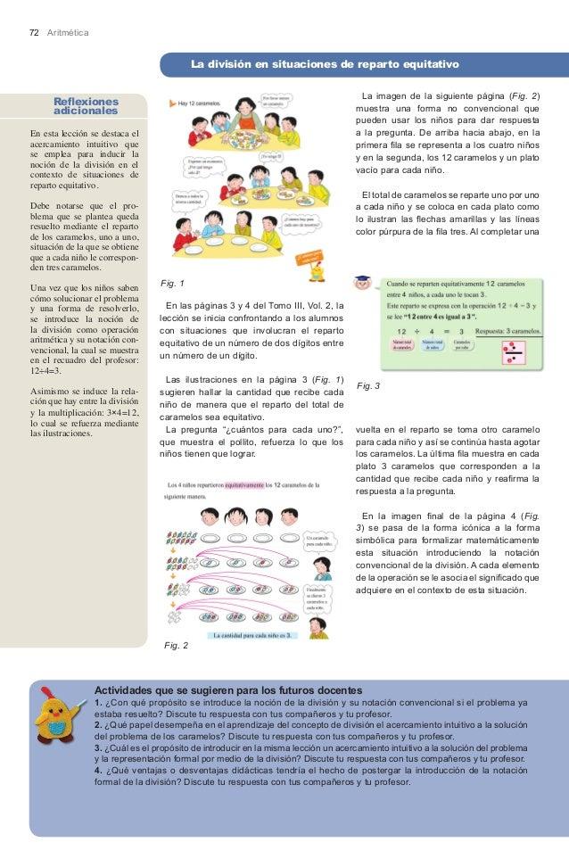 72 Aritmética                                           La división en situaciones de reparto equitativo                  ...
