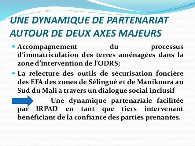 La sécurisation foncière des exploitants familiaux dans la zone de l'ODRS Slide 2
