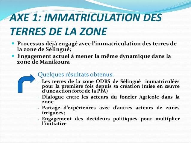 La sécurisation foncière des exploitants familiaux dans la zone de l'ODRS Slide 3