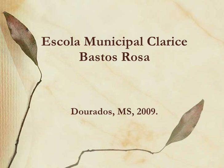 Escola Municipal Clarice Bastos Rosa Dourados, MS, 2009.