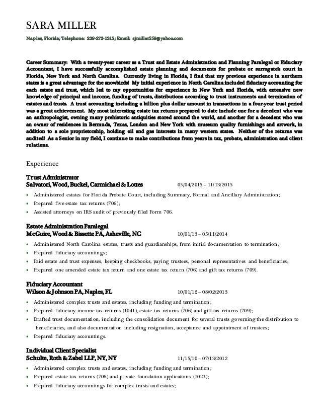 Resume November 2015 Paralegal