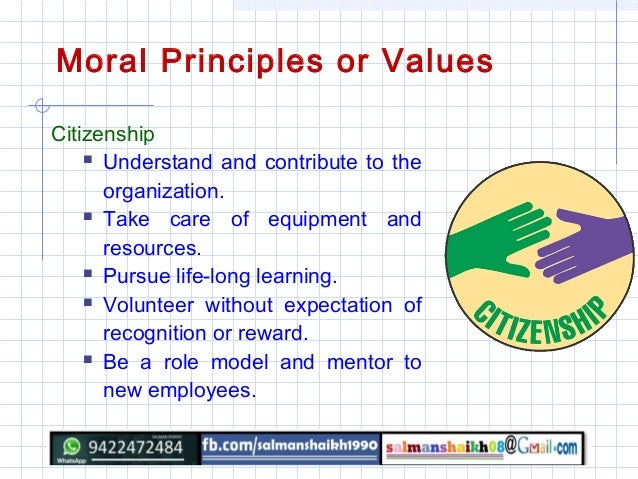 moral values moral principles or values 9