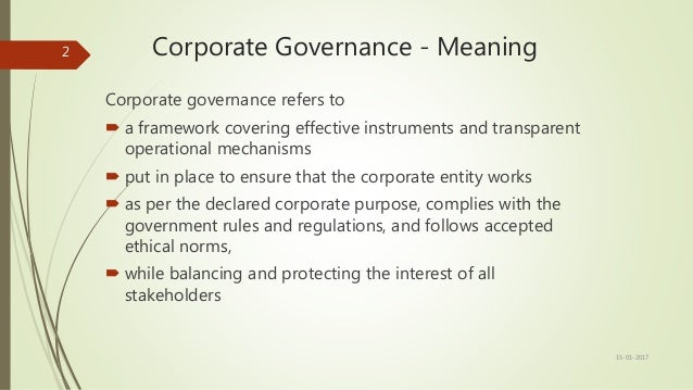 corporate governance conceptual framework This paper outlines a conceptual framework of the relationship between  corporate governance and two important determinants of capital market  development.