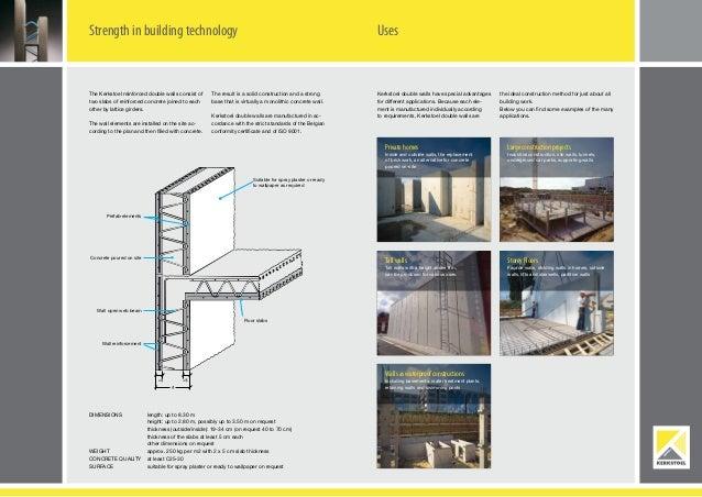 Reinforced Concrete Precast Twin Walls