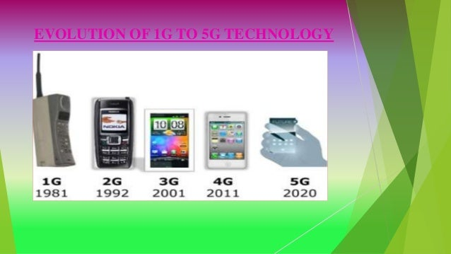 EVOLUTION OF 1G TO 5G TECHNOLOGY