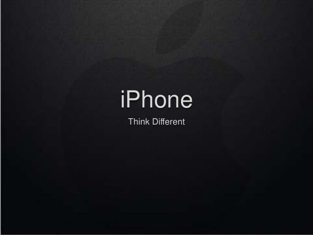 iPhone Think Different