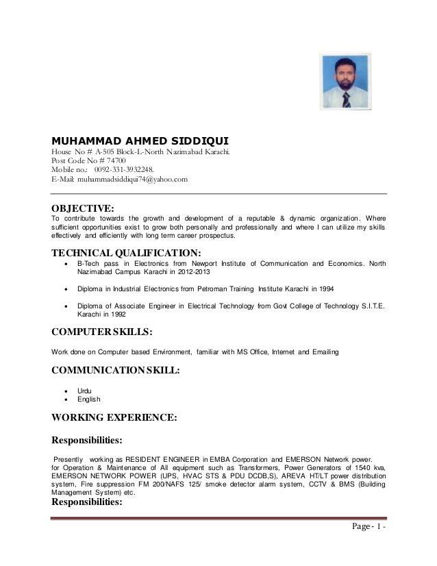 ElectricalInstrumentation Engineer
