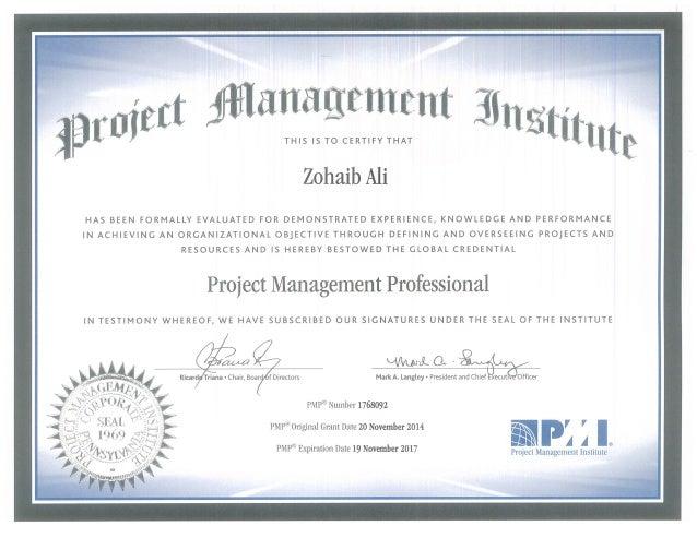 Pmp Certificate