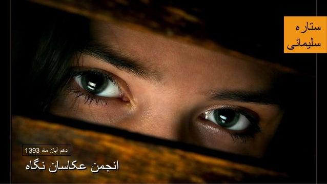 نگا عکاسان انجمنه ستاره سلیمانی ماه آبان دهم1393 نگاه عکاسان انجمن