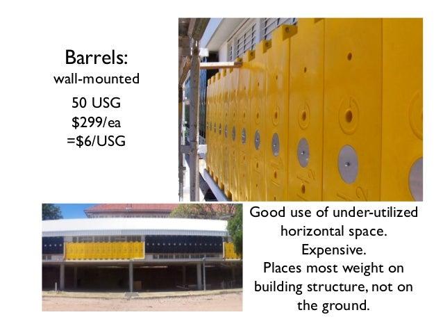 Rainwater Harvesting Rain Harvesting Above Ground Tanks SEE barrplastics.com for tank drawings & Part #'s The most economi...