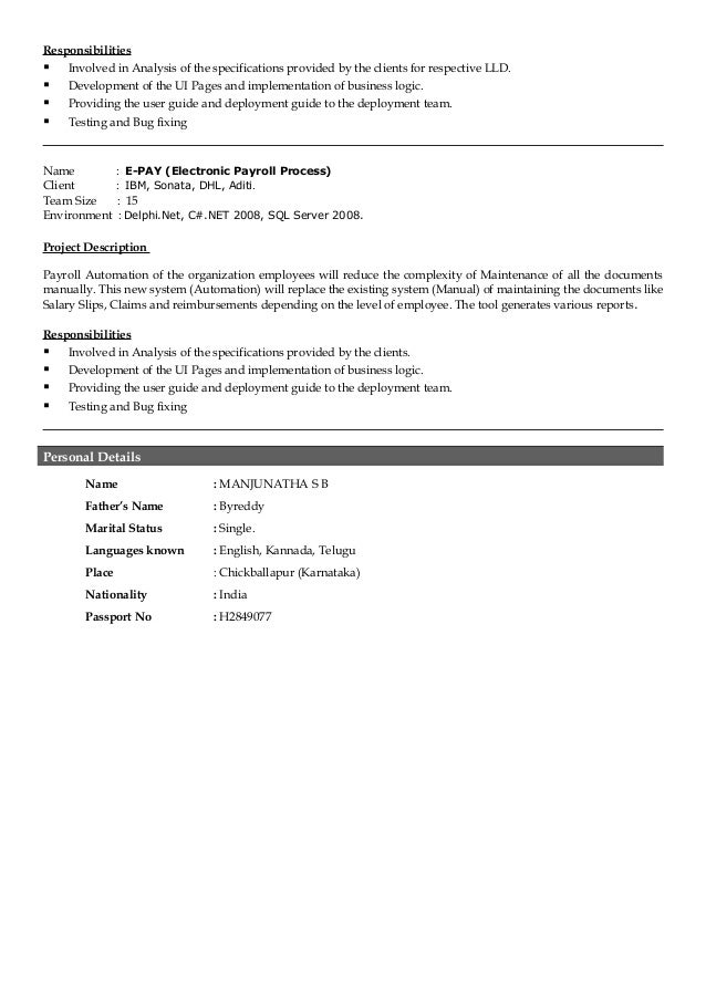 testing resume sle for 3 years experience 28 images