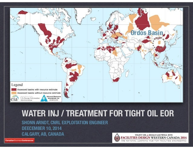 WATER INJ / TREATMENT FOR TIGHT OIL EOR SHONN ARNDT, CNRL EXPLOITATION ENGINEER DEECEMBER 10, 2014 CALGARY, AB, CANADA 201...