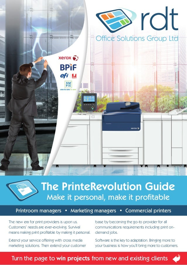 The new era for print providers is upon us. Customers' needs are ever-evolving. Survival means making print profitable by ...