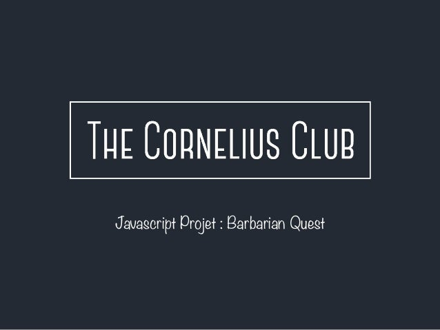 Javascript Projet : Barbarian Quest