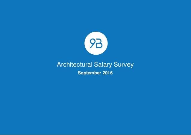 Architectural Salary Survey September 2016