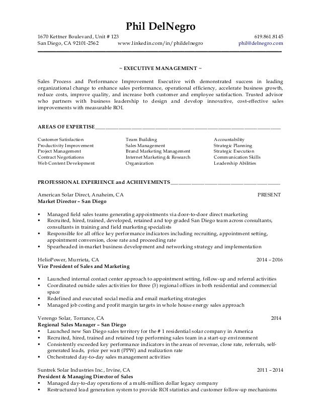 DelNegro, Phil - Resume - January 1, 2017
