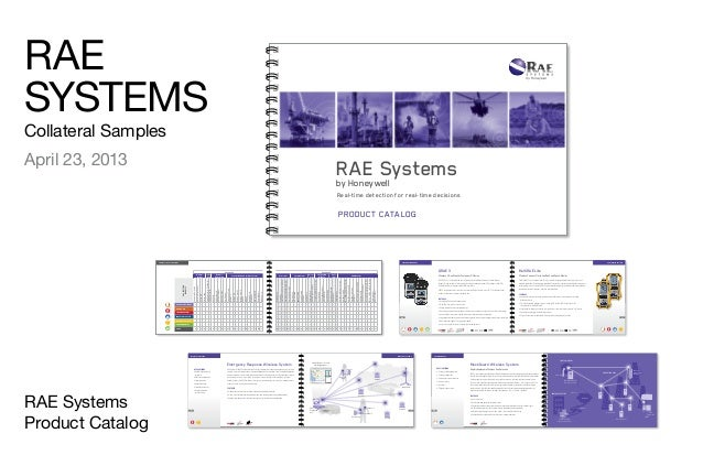 RAE SYSTEMS Collateral Samples April 23, 2013 RAE Systems Product Catalog RAE Systemsby Honeywell Real-time detection for ...
