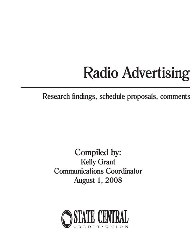 Radio Advertising Proposal Template  Hlwhy