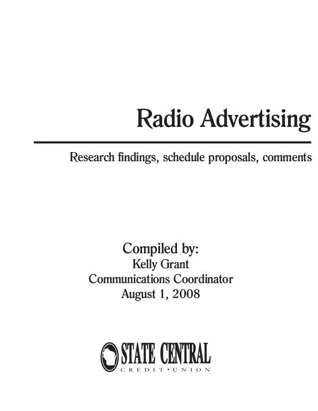 Radio Advertising Findings