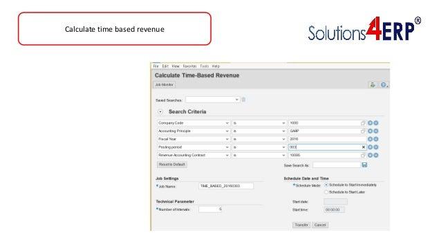 Calculate time based revenue