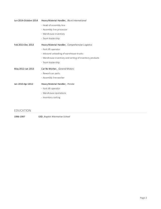 resume ged gallery resume format examples 2018