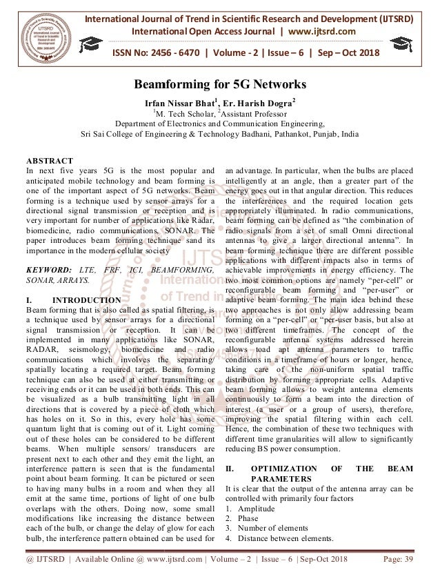 Beamforming for 5G Networks