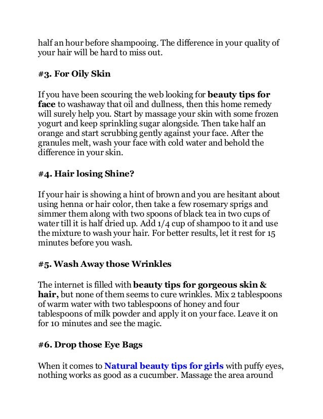 9 Beauty Tips For Gorgeous Skin And Hair
