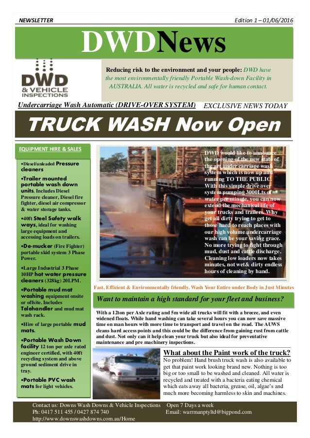 DWD Truck Wash Now Open