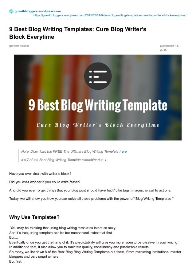 9 Best Images About Istanbul: 9 Best Blog Writing Templates