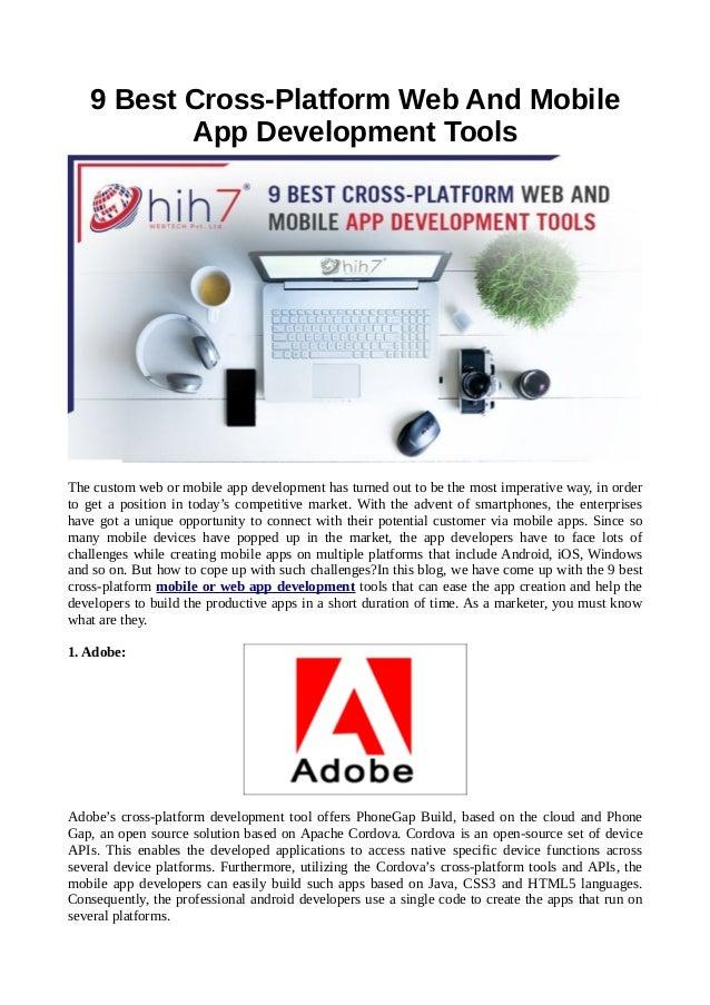 9 best cross platform web and mobile app development tools