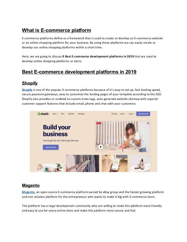 9 best e commerce development platforms in 2019