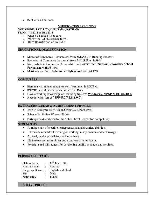 narendra salvi resume