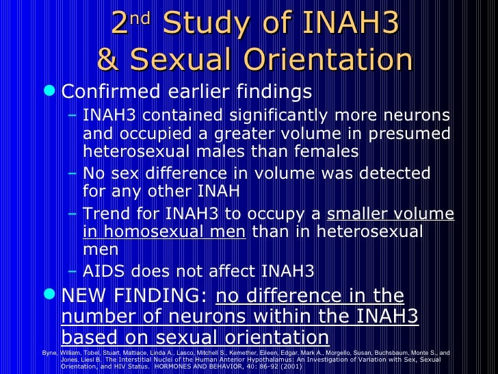 Inah3 homosexuality