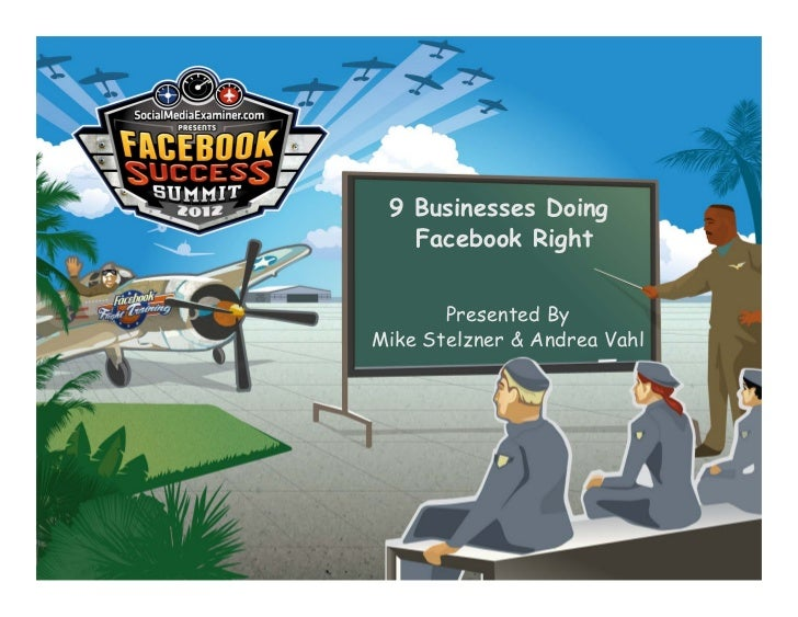 9 Businesses Doing   Facebook Right       Presented ByMike Stelzner & Andrea Vahl