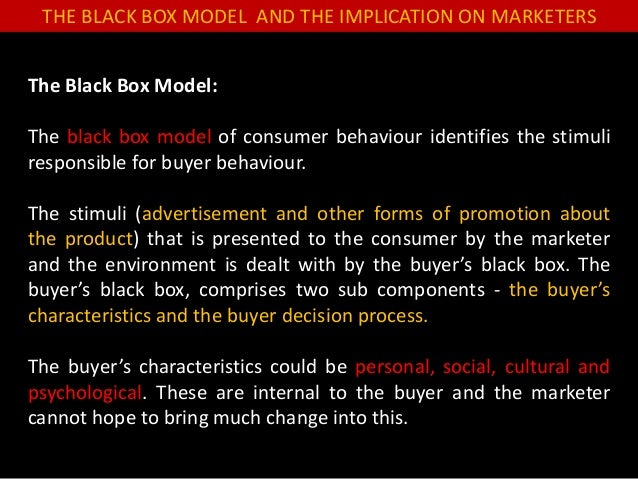 kotler black box model Of chinese consumer behaviour that might not be  other stimuli buyer's black box buyer's  figure 1 stimulus-response model source: kotler, p.