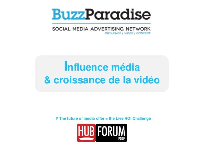 Influence média & croissance de la vidéo  # The future of media offer = the Live ROI Challenge