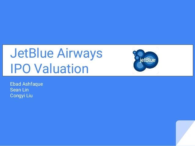 Kasus jetblue airways ipo valuation