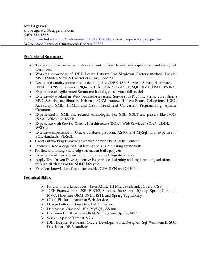 J2ee Jsp Resume Server Resume Objectives Resume Objective For Medical Field  Resume Project Manager Example Resume