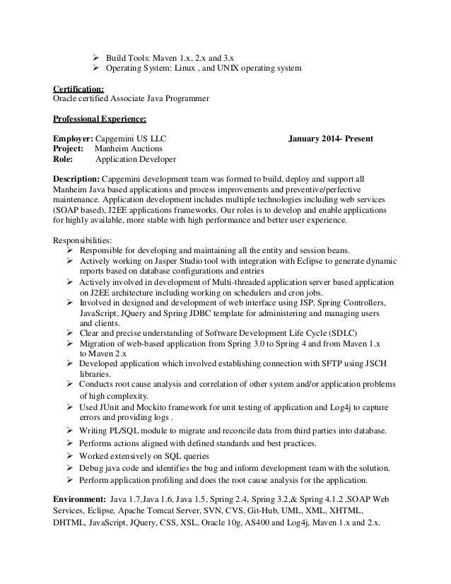 maven resume build