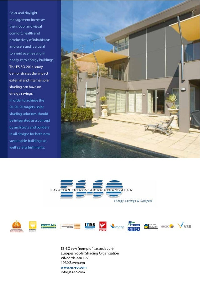 Page 1 (Message: Context Europe – importance of buildings in reducing energy consumption and CO2)12 ES-SO vzw (non-profit ...
