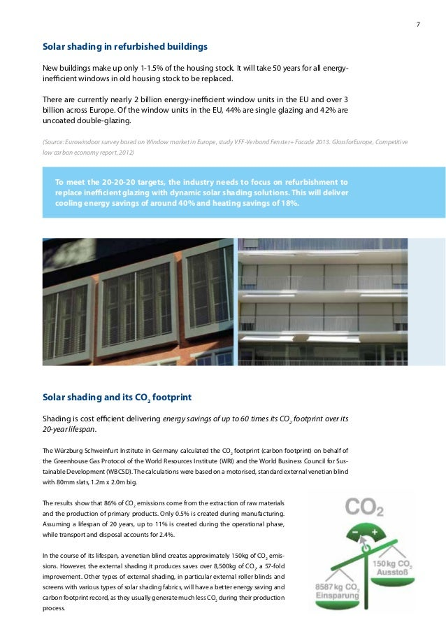 7 Solar shading in refurbished buildings New buildings make up only 1-1.5% of the housing stock. It will take 50 years for...