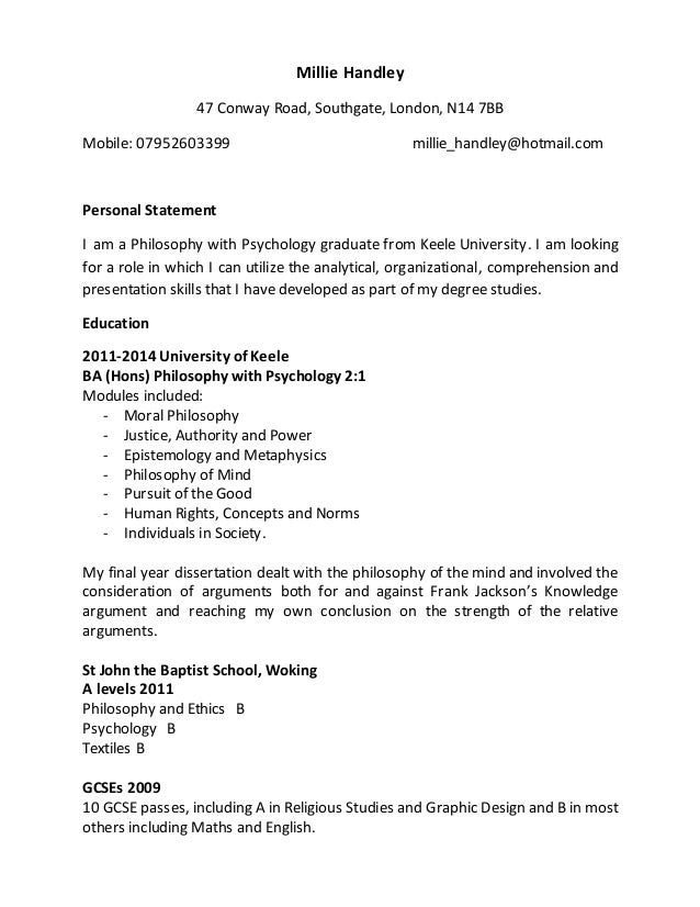 Graduate CV