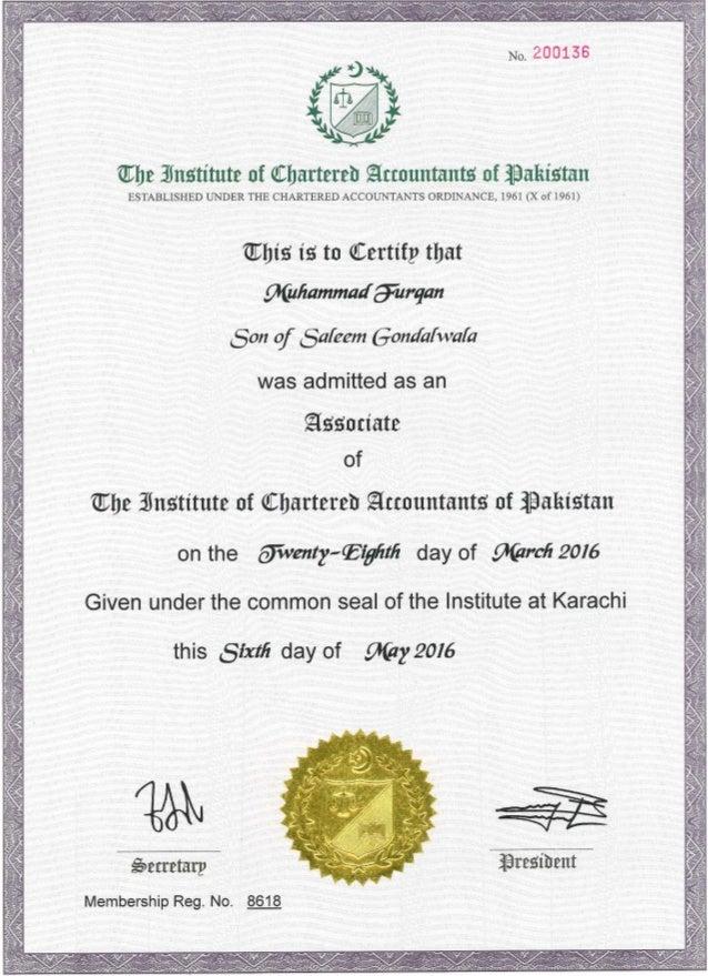 qualification certificate aca slideshare upcoming
