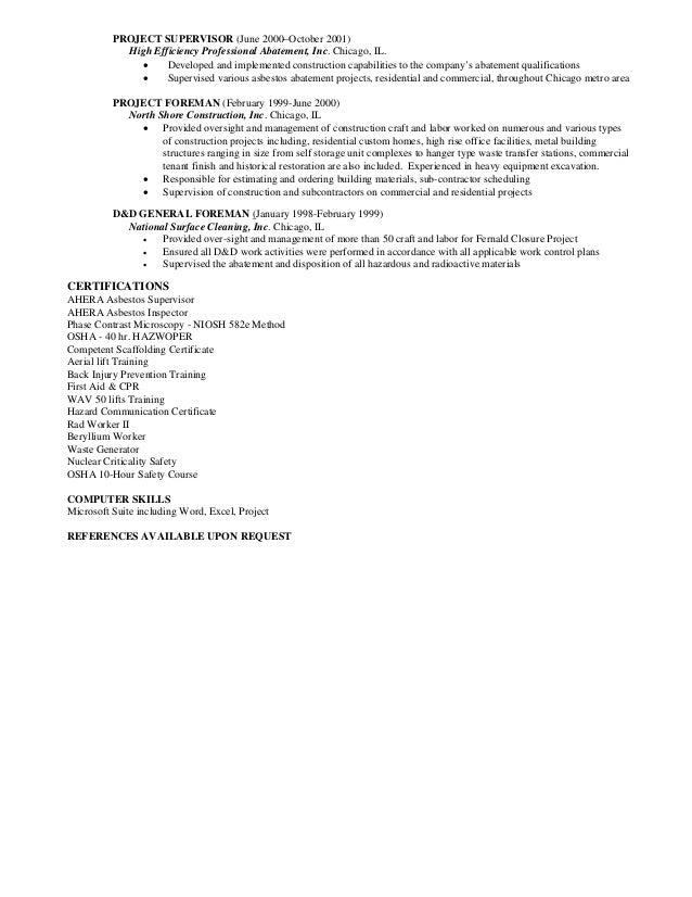 Perfect Asbestos Manager Resume Collection   Best Resume Examples By .
