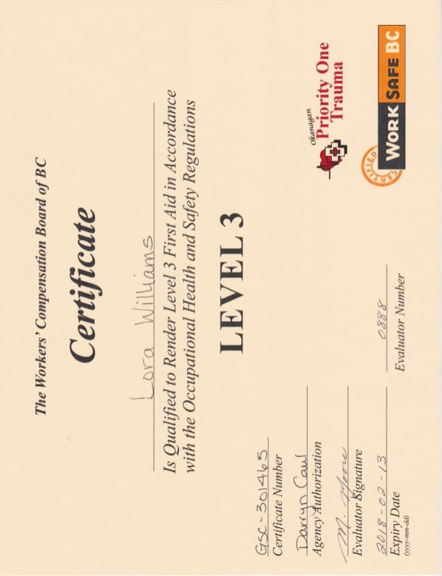 OFA3 Certification