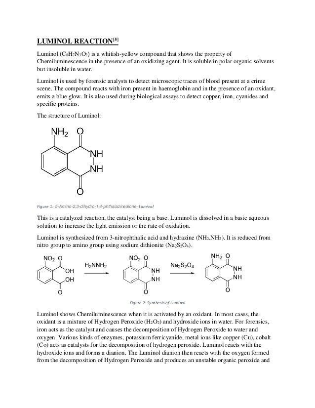 chemiluminescence examples