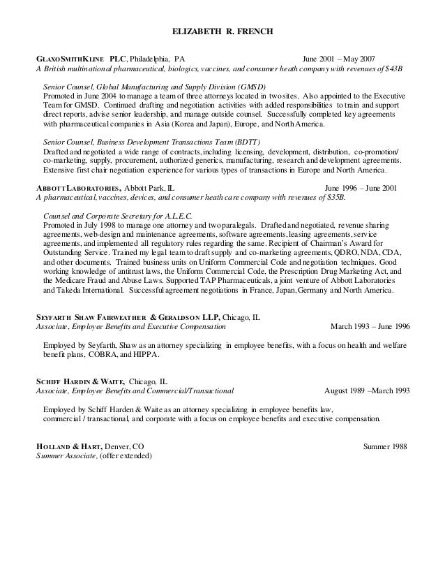 french beth resume 2014
